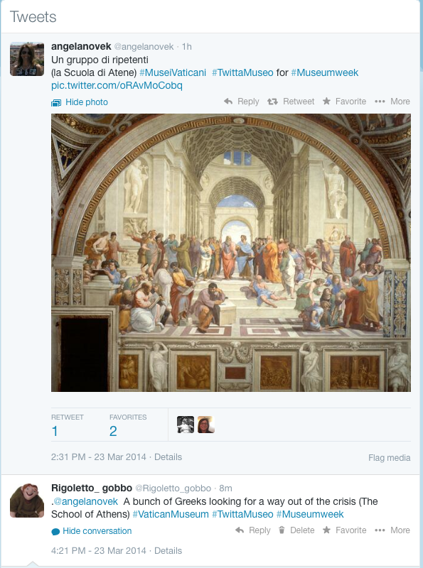 tweet School of Athens